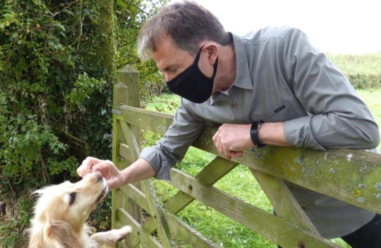 Dan Norris and his dog